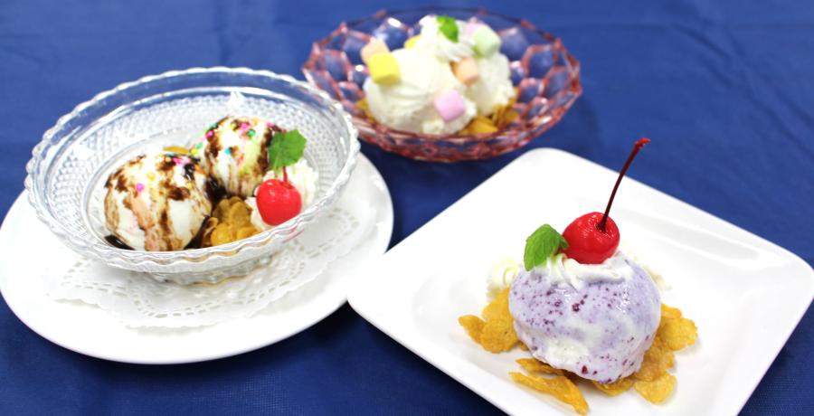 3日オープンキャンパス 「アイスクリーム」は単なる太るデザートなの??知って作って食べてみてね♪